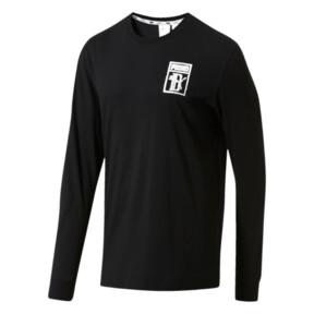 Thumbnail 1 of PUMA x Big Sean Logo Long Sleeve Shirt, Puma Black, medium