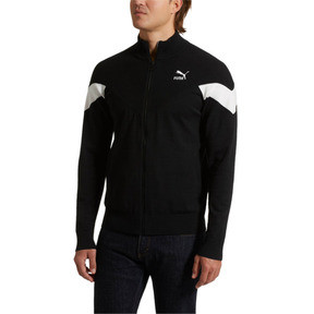 Thumbnail 2 of Iconic MCS evoKNIT Men's Track Jacket, Puma Black, medium