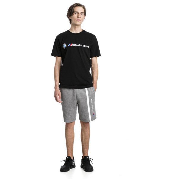 BMW M Motorsport Logo Men's Tee, Puma Black, large
