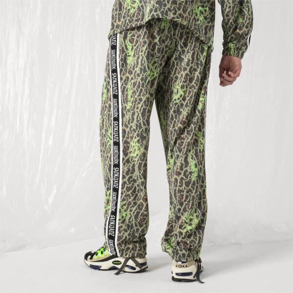 PUMA x SANKUANZ Men's Track Pants, -Fluro Green, large