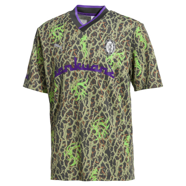 PUMA x SANKUANZ Short Sleeve Men's Tee, -Fluro green, large
