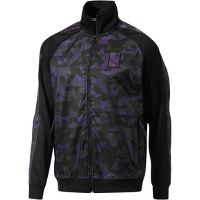 Thumbnail 1 of PUMA x PRPS Opulent Men's T7 Track Jacket, Puma Black-AOP Camo, medium