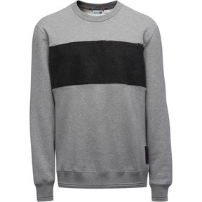 Thumbnail 3 of PUMA x PRPS Supply Men's Crewneck Sweatshirt, MGH-Puma Black, medium