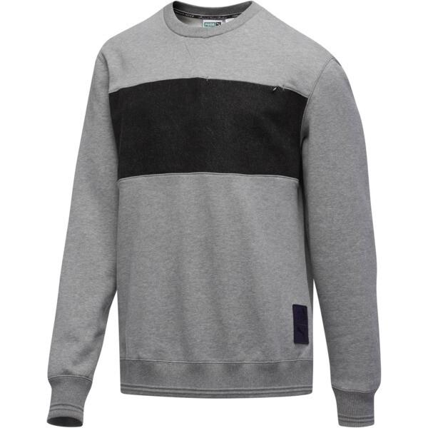 PUMA x PRPS Supply Men's Crewneck Sweatshirt, MGH-Puma Black, large