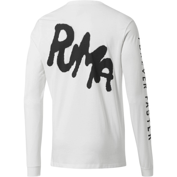 PUMA x PRPS Men's Long Sleeve Tee, Puma White, large