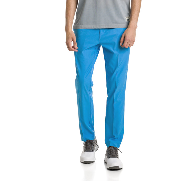 Tailored Jackpot Woven Men's Golf Pants, Bleu Azur, large