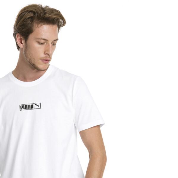 Graphic Logo No. 2 Short Sleeve Men's Tee, Puma White, large