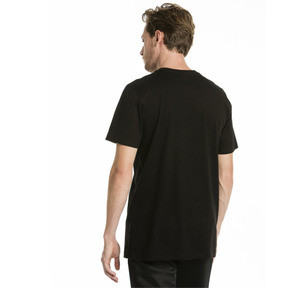 Thumbnail 2 of T-Shirt Graphic Logo No. 2 pour homme, Cotton Black-gold foil, medium