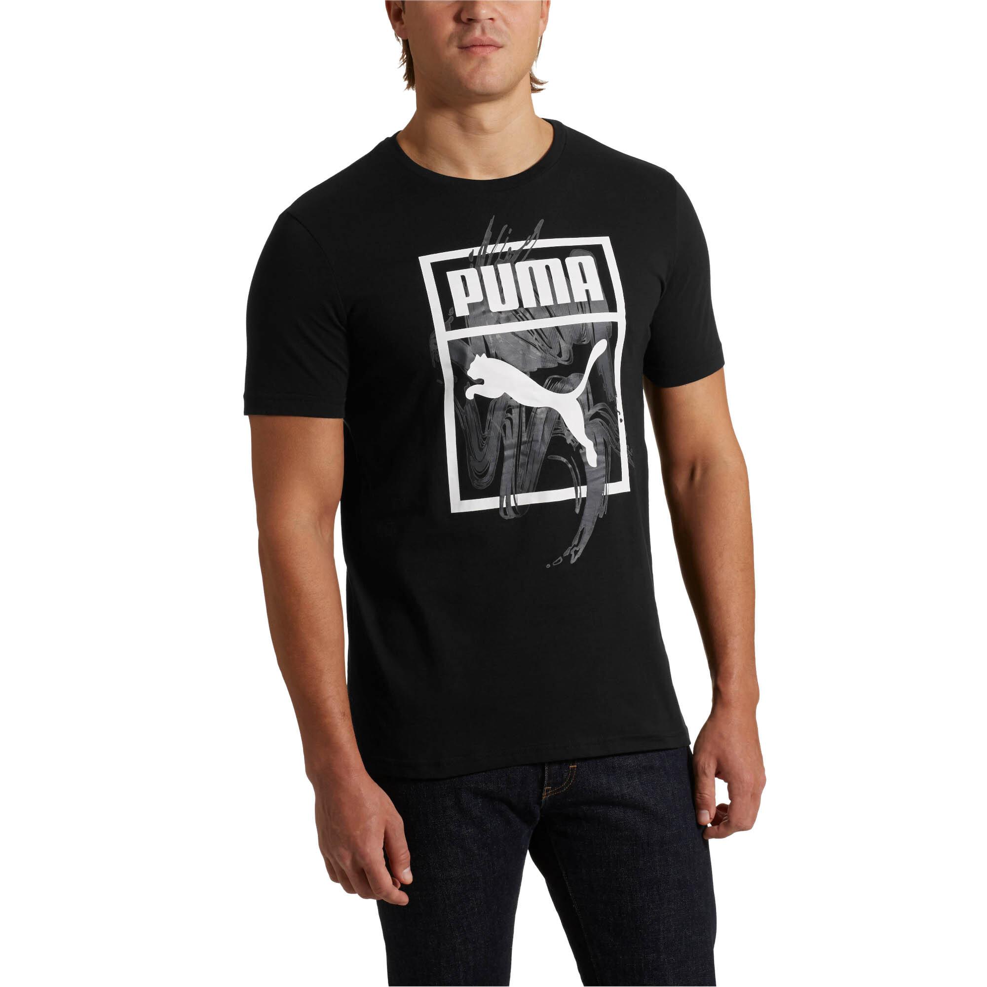 PUMA-Graphic-Logo-Brush-Tee-Men-Tee-Sport-Classics thumbnail 10
