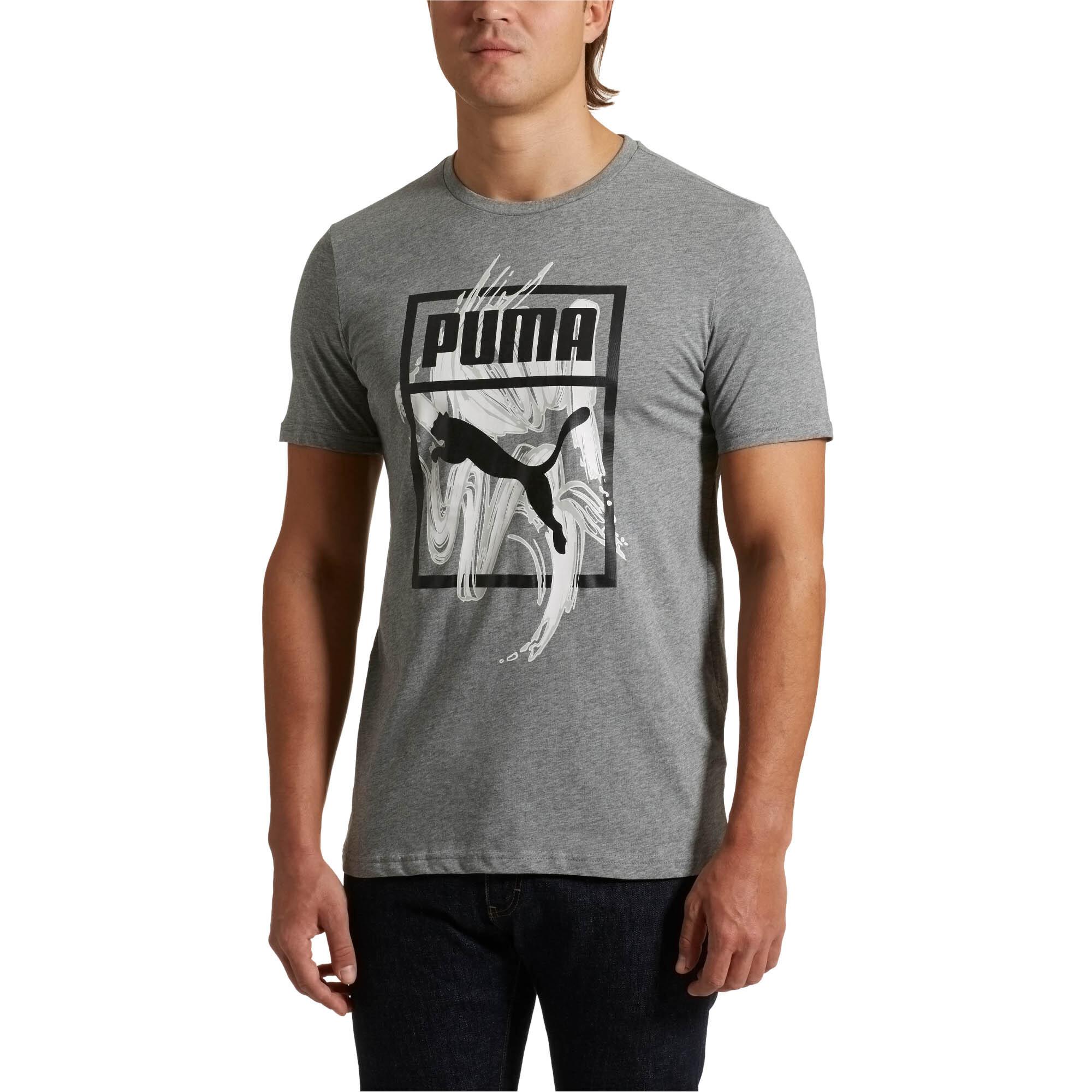 PUMA-Graphic-Logo-Brush-Tee-Men-Tee-Sport-Classics thumbnail 16