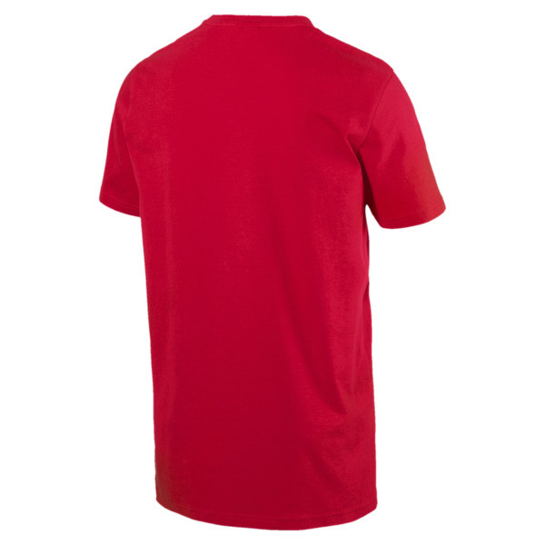 Graphic Logo Brush Tee, High Risk Red, large