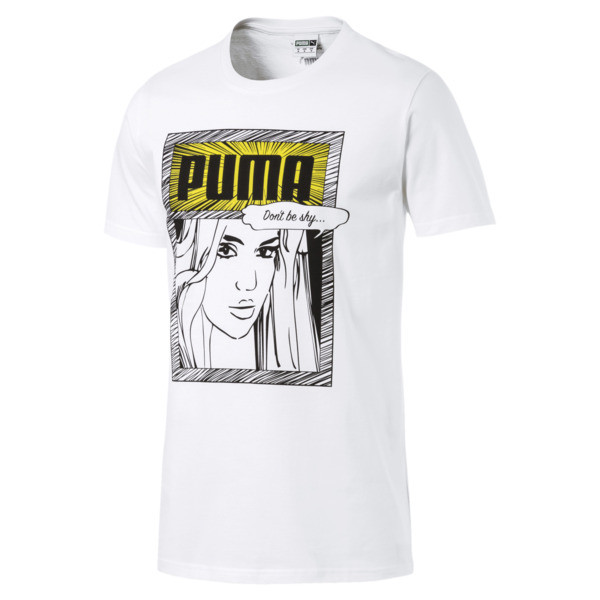 Graphic Comics Tee, Puma White, large