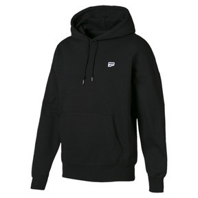 Thumbnail 4 of Downtown Knitted Men's Hoodie, Cotton Black, medium