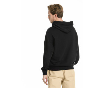 Thumbnail 2 of Downtown Knitted Men's Hoodie, Cotton Black, medium