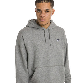 Thumbnail 2 of Sweatshirt à capuche tricoté Downtown pour homme, Medium Gray Heather, medium