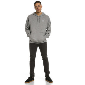 Thumbnail 5 of Sweatshirt à capuche tricoté Downtown pour homme, Medium Gray Heather, medium