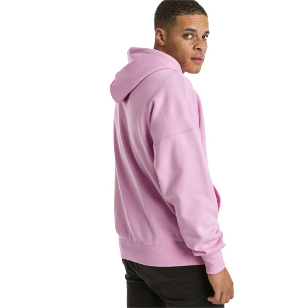 Downtown Knitted Men's Hoodie, Peach Bud, large