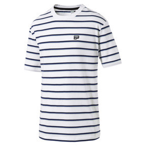 Thumbnail 4 of Downtown Striped Men's Tee, Puma White, medium