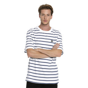 Thumbnail 1 of Downtown Striped Men's Tee, Puma White, medium