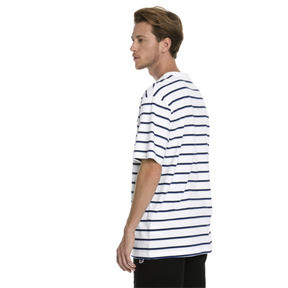 Thumbnail 2 of Downtown Striped Men's Tee, Puma White, medium