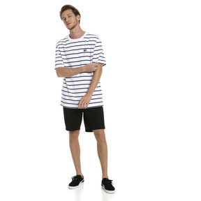 Thumbnail 3 of Downtown Striped Men's Tee, Puma White, medium