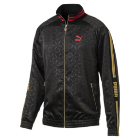 Thumbnail 1 of LUXE PACK Track Jacket, Puma Black-AOP, medium