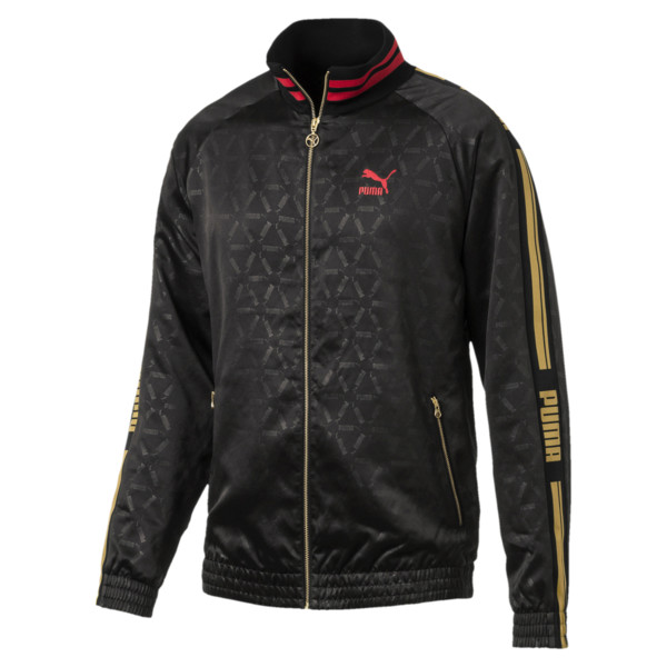 LUXE PACK Track Jacket, Puma Black-AOP, large