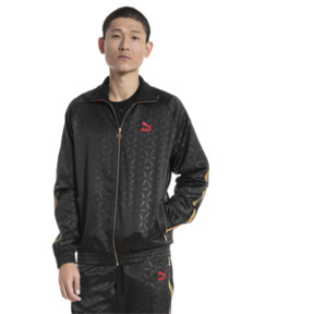 Thumbnail 2 of LUXE PACK Track Jacket, Puma Black-AOP, medium