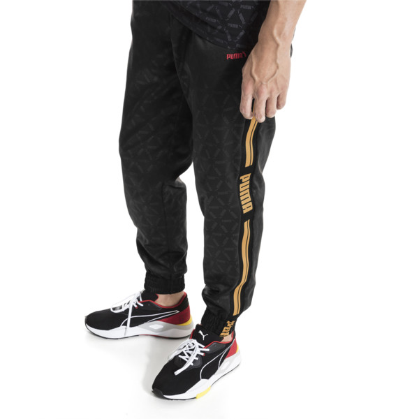 LUXE PACK Track Pants, Puma Black--AOP, large
