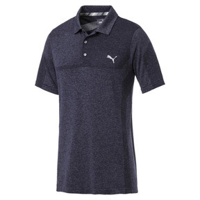 Thumbnail 4 of evoKNIT Breakers Men's Golf Polo, Peacoat Heather, medium