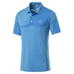 Thumbnail 4 of Polo de golf evoKNIT Breakers pour homme, Bleu Azur Heather, medium
