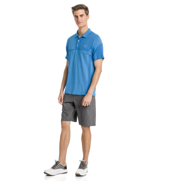 Polo de golf evoKNIT Breakers pour homme, Bleu Azur Heather, large