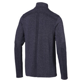 Thumbnail 2 of evoKNIT 1/4 Zip Men's Long Sleeve Shirt, Peacoat Heather, medium
