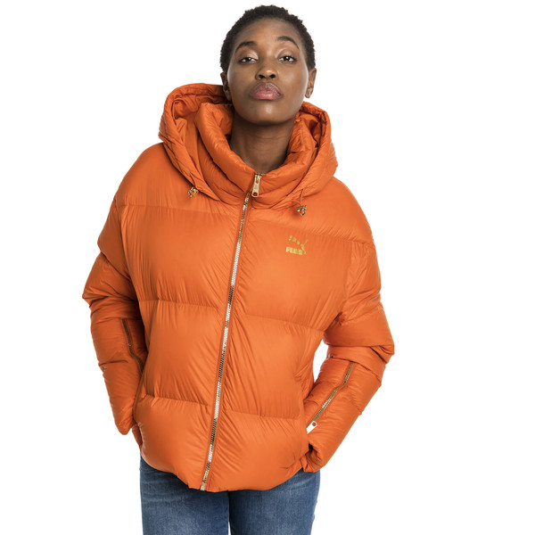 Women's' Down Jacket, Burnt Orange, large