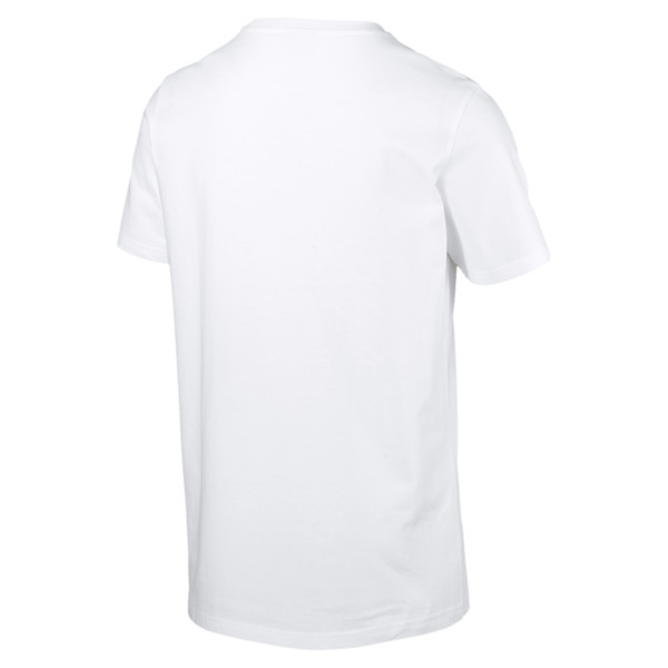 Graphic Palms Photo Men's Tee, Puma White-FTW, large