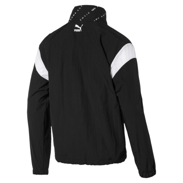 '90s Retro Men's Windbreaker, Puma Black, large
