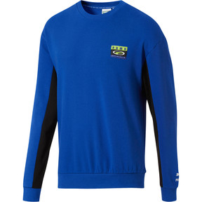 Thumbnail 2 of '90s Retro Men's Crewneck Sweatshirt, Surf The Web, medium