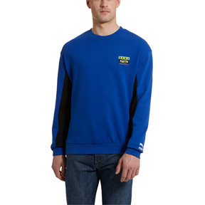 Thumbnail 1 of '90s Retro Men's Crewneck Sweatshirt, Surf The Web, medium