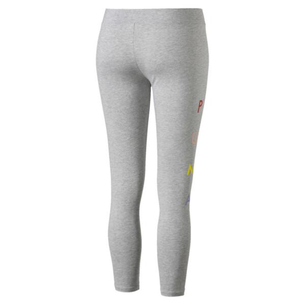 Fierce Cat Women's Leggings, Light Gray Heather, large