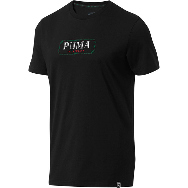 Lux Men's MCS Graphic T-Shirt, Puma Black, large