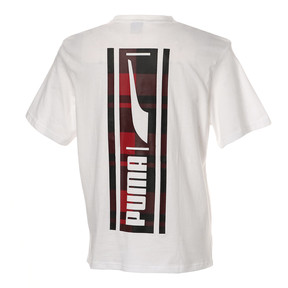 Thumbnail 2 of CHECK LOGO TEE, Puma White, medium-JPN