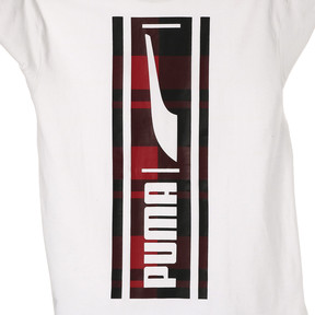 Thumbnail 6 of CHECK LOGO TEE, Puma White, medium-JPN