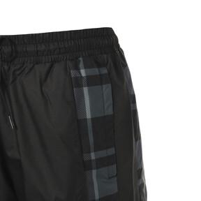 Thumbnail 4 of CHECK WOVEN PANTS, Puma Black-Check, medium-JPN