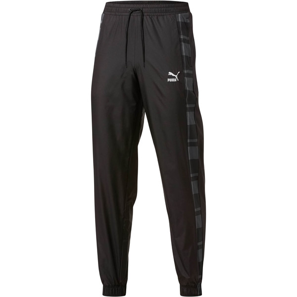 Check Woven Pants, Puma Black-Check, large