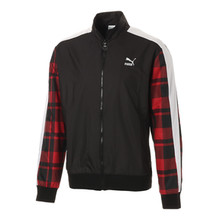 CHECK WOVEN TRACK JACKET