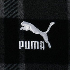 Thumbnail 3 of CHECK SHERPA HOODY, Puma Black-check, medium-JPN