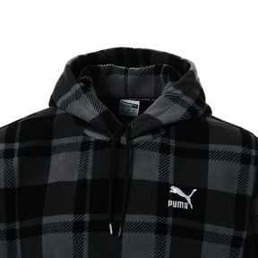 Thumbnail 6 of CHECK SHERPA HOODY, Puma Black-check, medium-JPN