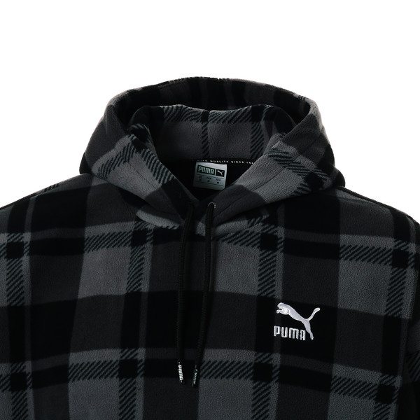 CHECK SHERPA HOODY, Puma Black-check, large-JPN
