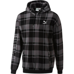 Thumbnail 1 of Check Polar Hoody, Puma Black-check, medium