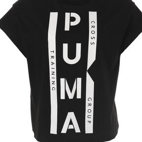 Thumbnail 9 of PUMA XTG グラフィック ウィメンズ SS Tシャツ (半袖), Cotton Black, medium-JPN